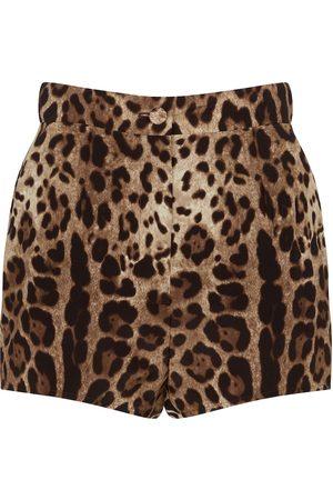 Dolce & Gabbana Bedruckte Shorts aus Seide