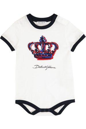 Dolce & Gabbana Baby Body aus Baumwolle