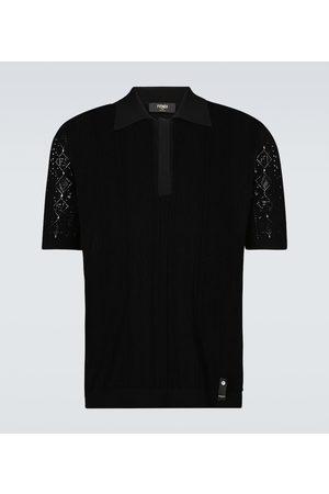 Fendi Poloshirt aus Makramee