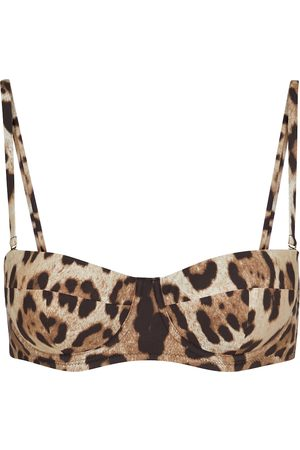 Dolce & Gabbana Bedrucktes Bikini-Oberteil