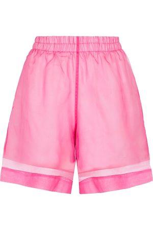 DRIES VAN NOTEN Shorts aus Seide und Baumwolle