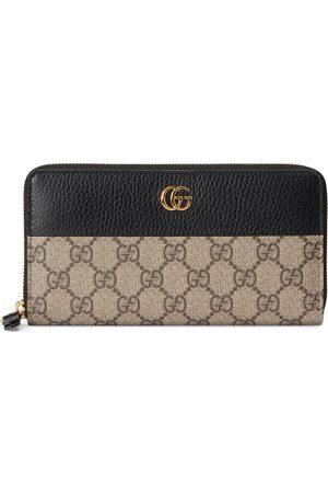Gucci GG Marmont Brieftasche mit Rundumreißverschluss