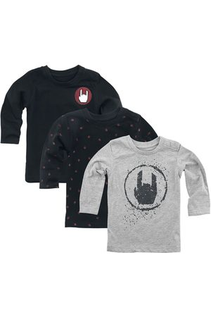 EMP Stage Collection /schwarzes 3er Pack Langarmshirts Kinder-Longsleeve /