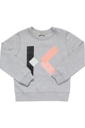 Kenzo Mädchen Sweatshirts - Sweatshirt Aus Baumwolle Mit Logodruck