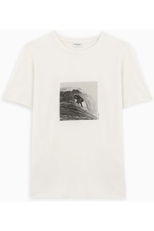 Saint Laurent Ecru Surfer t-shirt