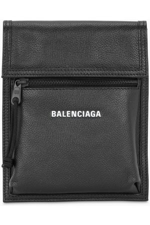 Balenciaga Black logoed small document holder