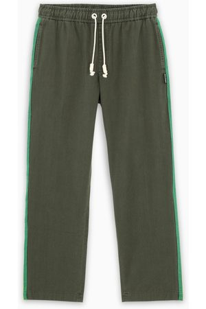 Palm Angels Military green cotton joggers
