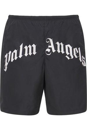 Palm Angels Badeshorts Aus Nylon Mit Logo