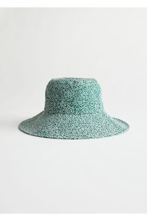 & OTHER STORIES Floral Printed Bucket Hat - Green