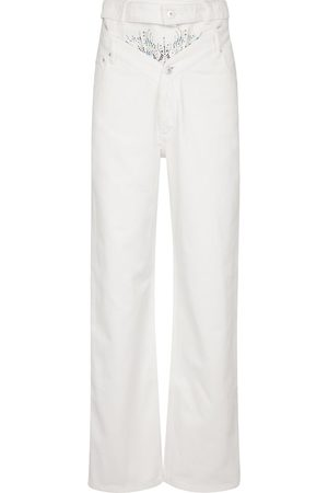 Y / PROJECT Verzierte High-Rise Straight Jeans
