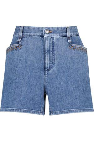 Chloé High-Rise Jeansshorts