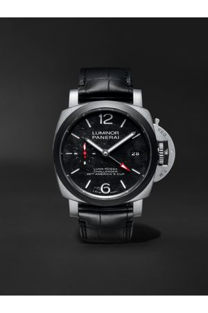 PANERAI Herren Uhren - Luminor Luna Rossa Limited Edition Automatic GMT 42mm Titanium and Alligator Watch, Ref. No. PAM01096