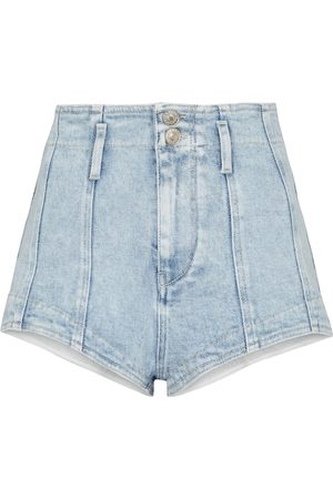Isabel Marant Damen Shorts - High-Rise Jeansshorts Deverson