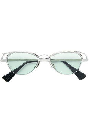 Kuboraum Herren Sonnenbrillen - Sonnenbrille mit runden Gläsern - Metallisch