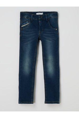 Name It Jungen Slim - Slim Fit Jeans aus Viskosemischung Modell 'Theo