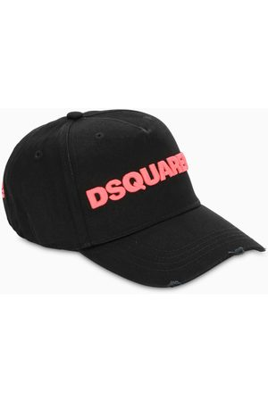 Dsquared2 Black baseball cap with red logo