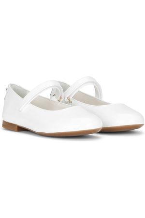 Dolce & Gabbana Kids Round-toe ballerina shoes