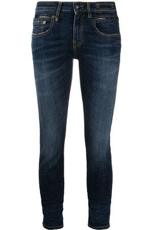 R13 Damen Skinny - Cropped-Skinny-Jeans