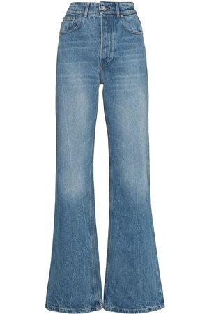 Paco Rabanne Damen High Waisted - High-rise wide-leg jeans