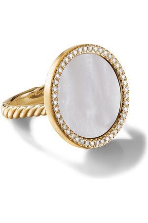 David Yurman Damen Ringe - 18kt Gelbgoldring mit Diamanten