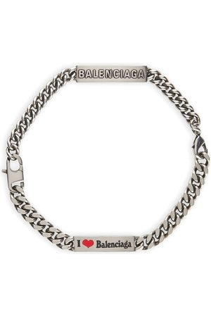 Balenciaga Logo plate bracelet