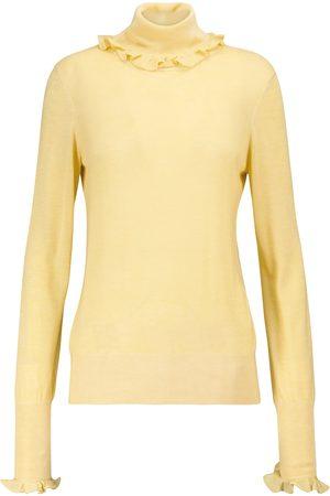 Victoria Beckham Damen Rollkragenpullover - Rollkragenpullover mit Wollanteil