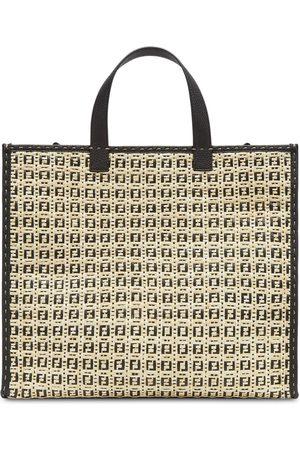 Fendi Shopper mit FF-Muster - Nude