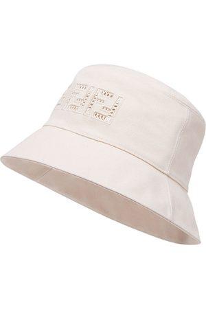 Fendi FF canvas bucket hat - Nude