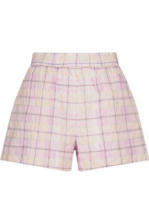 Ganni Shorts aus Seersucker