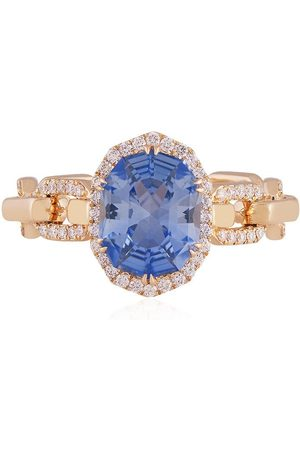 O THONGTHAI Herren Ringe - 14kt sapphire diamond ring