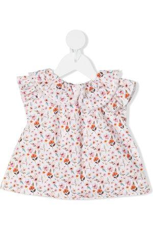 LA STUPENDERIA Ausgestellte Bluse mit Blumen-Print