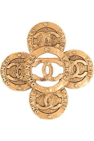 Chanel Pre-Owned Brosche mit CC