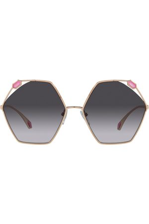 Bvlgari Sonnenbrille mit geometrischem Gestell