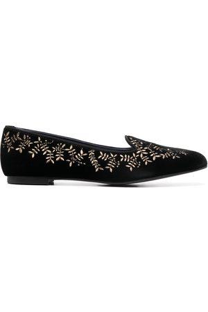 10 CORSO COMO X Castañer Hojas velvet slippers