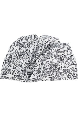 10 CORSO COMO Turban mit Zeichnungs-Print