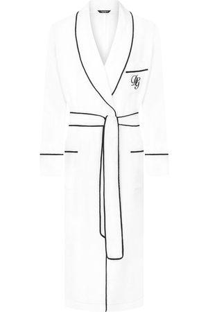 Dolce & Gabbana Leinen-Morgenmantel mit Logo