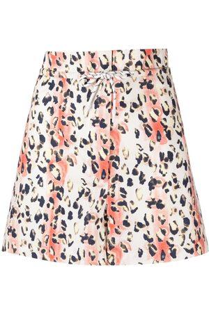 REMAIN Leopard-print organic-cotton shorts