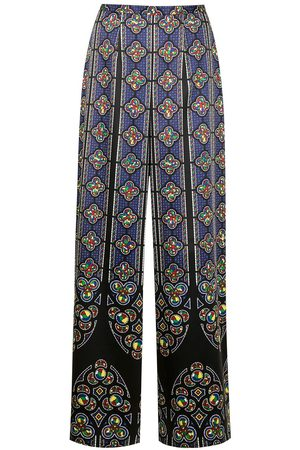 ENFÖLD Stain glass-print trousers - Mehrfarbig