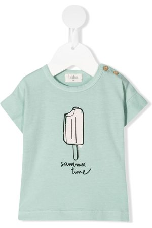 Buho Ice cream-print organic cotton T-shirt