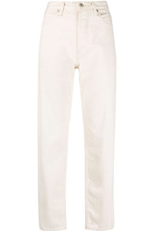 Jil Sander + high-waisted straight-leg jeans - Nude
