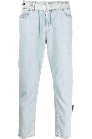 OFF-WHITE Cropped-Jeans mit Gürtel