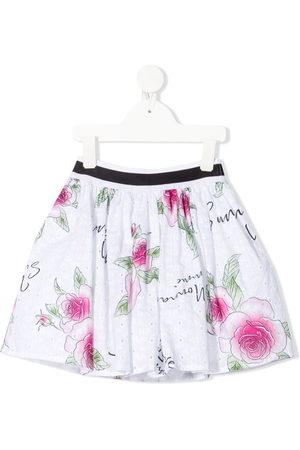 MONNALISA Mädchen Bedruckte Röcke - Geblümter Midirock mit Falten