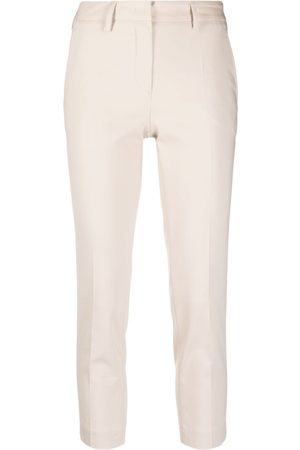 BLANCA Cropped skinny-fit trousers - Nude