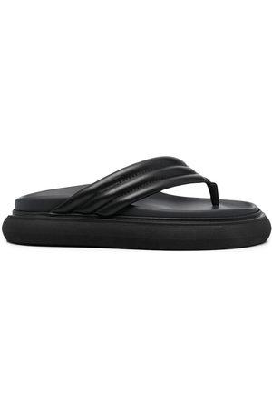The Attico Damen Flip Flops - Chunky-sole leather flip flops