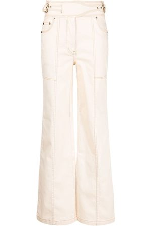 ULLA JOHNSON Albie high-waisted wide jeans - Nude