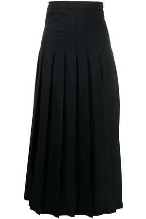 McQ Pleated A-line maxi skirt