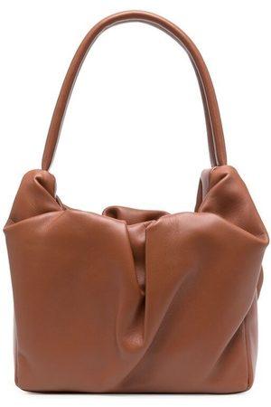 Staud Damen Handtaschen - Ruched leather tote bag
