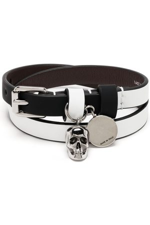Alexander McQueen Herren Armbänder - Wraparound skull bracelet