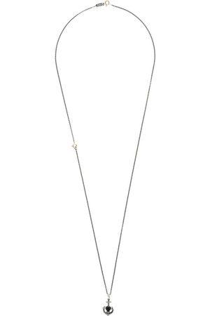 Ugo Cacciatori Halsketten - Halskette mit Herz- und Anker-Print - Metallisch