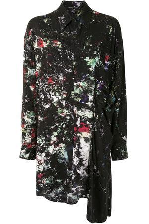 Yohji Yamamoto Damen Blusen - Asymmetrisches Hemd mit Print